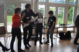Workshop avec les rappeurs