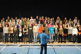 Répétitions à Sarrebruck, le samedi soir, après une journée bien chargée