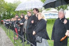 Commémorations au camp de concentration de Neue Bremm à Sarrebruck. Beaucoup d'émotion.